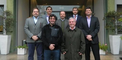 Federico Virasoro junto a sus pares en la formación de la Liga Argentina Amateur